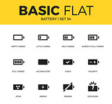 Basic set of Battery icons