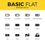 Basic set of Battery icons
