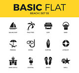 Basic set of beach icons