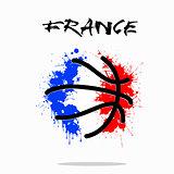 Flag of France as an abstract basketball ball