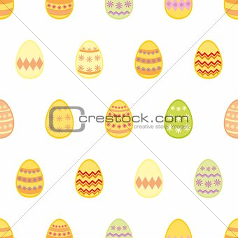 Tile vector pattern with easter eggs
