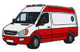 Red and white ambulance