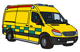 Yellow ambulance
