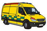 Yellow ambulance