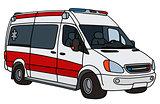Red and white ambulance