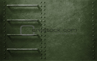 green metal military vehicle side background