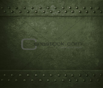 green military metal armor background