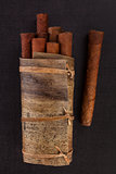 Traditional cuban cigars.