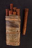 Traditional cuban cigars.