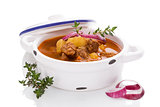 Culinary goulash soup.