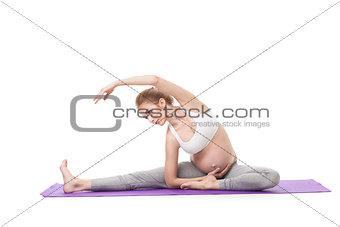 Portrait Of Pregnant Woman Doing Yoga