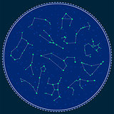 Zodiac constellations vector symbols.