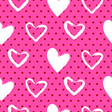 Romantic valentine seamless vector pattern.