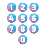 Number set vector circle