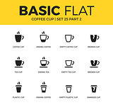 Basic set of coffee icons