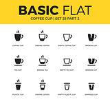 Basic set of coffee icons