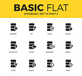 Basic set of Database icons