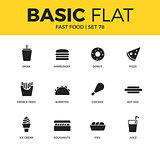 Basic set of fast food icons