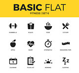 Basic set of Fitness icons