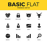Basic set of Finance icons