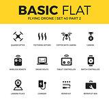 Basic set of flying drone icons