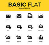 Basic set of email icons