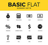Basic set of economy icons