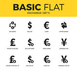 Basic set of exchange icons