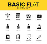 Basic set of Hospital icons