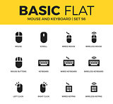 Basic set of Mouse and keyboard icons