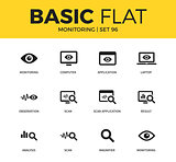 Basic set of Monitoring icons