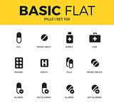 Basic set of pills icons