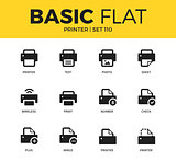 Basic set of Printer icons