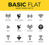 Basic set of Radio tower icons