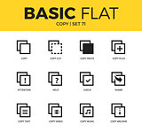 Basic set of copy icons