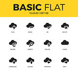 Basic set of cloud icons