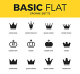 Basic set of crown icons