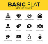 Basic set of love icons