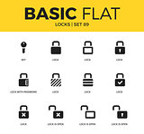 Basic set of Locks icons