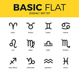 Basic set of zodiac icons