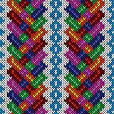 Seamless knitted multicolor pattern