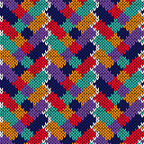 Seamless patchwork knitting pattern