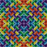 Seamless knitting intertwined pattern
