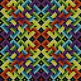 Seamless knitted intertwining pattern