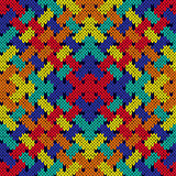 Intertwining seamless knitted pattern in vivid colors