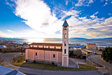 Church and coastline in Rijeka