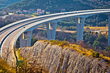 Crni Kal viaduct in Slovenia view