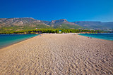 Famous Zlatni Rat beach on Brac island