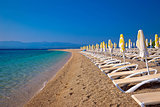 Famous Zlatni Rat beach on Brac