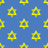 Yellow Star of David Seamless Pattern